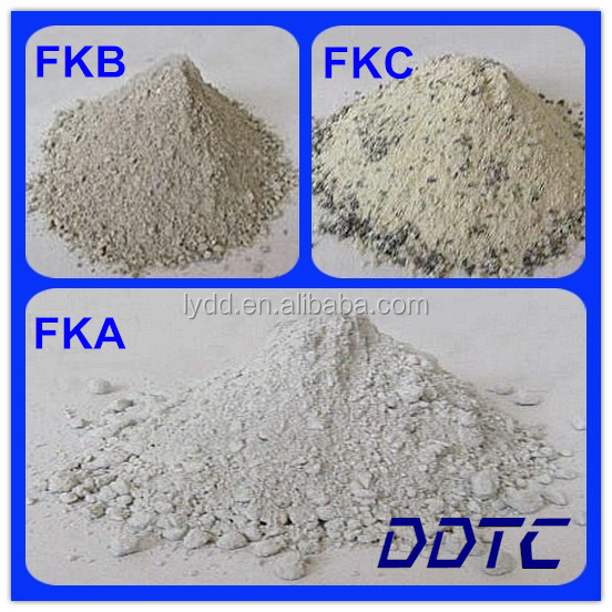Unshaped dry knot refractory ramming material (sio2) for blast furnace