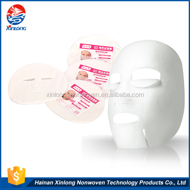 2016 hot sale high quality pollution-free DIY wholesale cotton invisible silk mask facial mask