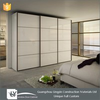 2016 New designs sliding glass door wardrobe for bedroom furniture
