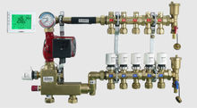 underfloor heating water manifold with 8 zone control floor heating system