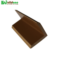 wpc edge cover for outdoor 100% pvc decking