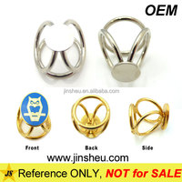 Wholesale fashion accessories cheap metal gold silver scarf slide ring