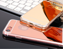 Hot sale cheap price for iphone 7 electroplating tpu mirror effect case, for iphone7 case with mirror