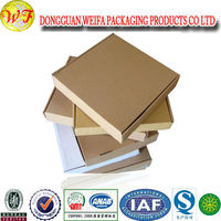 weifa Eco-friendly Brown Craft Corrugated Carton Box For Shipping And Packaging