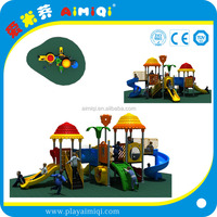 Children Outdoor Plastic Roofed Playground Slide