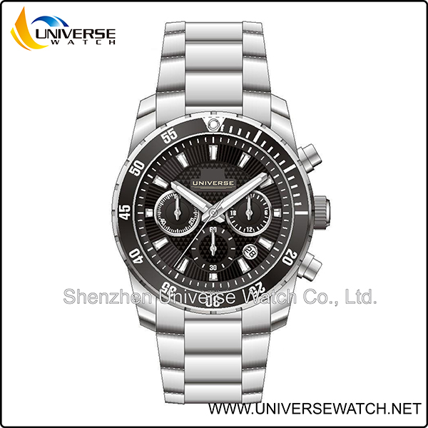 Shenzhen universe men's fancy hand watches stainless steel UN4229G-1