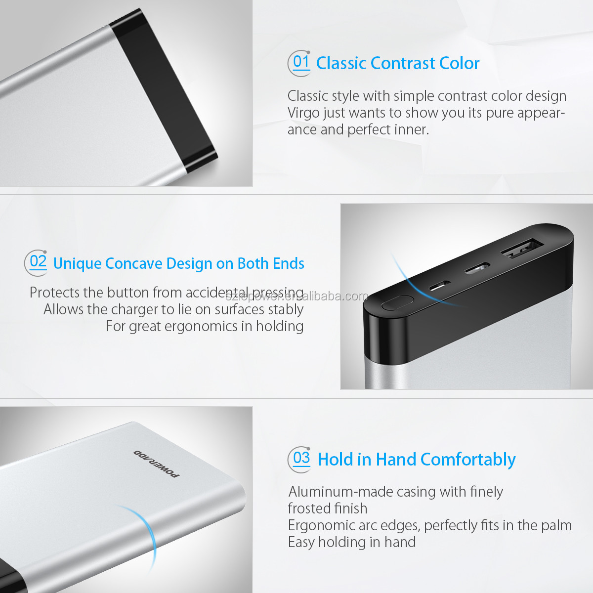 Best Electronic Poweradd Virgo Classic Power Bank 10000mah battery charger
