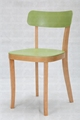 Fashion Cheapest restaurant plastic dining plastic chair with wooden leg