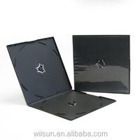 Competitive price black dvd case 5mm double disc Square Short PP CD Case