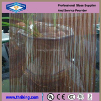 Clear textured Glass/wired glass