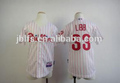 2014 OEM customized double knit tackle embroidery baseball jerseys