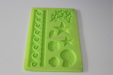 border lace cake decorating fondant mold 3d silicon mould