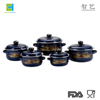 high quality enamel cookware set for cooking