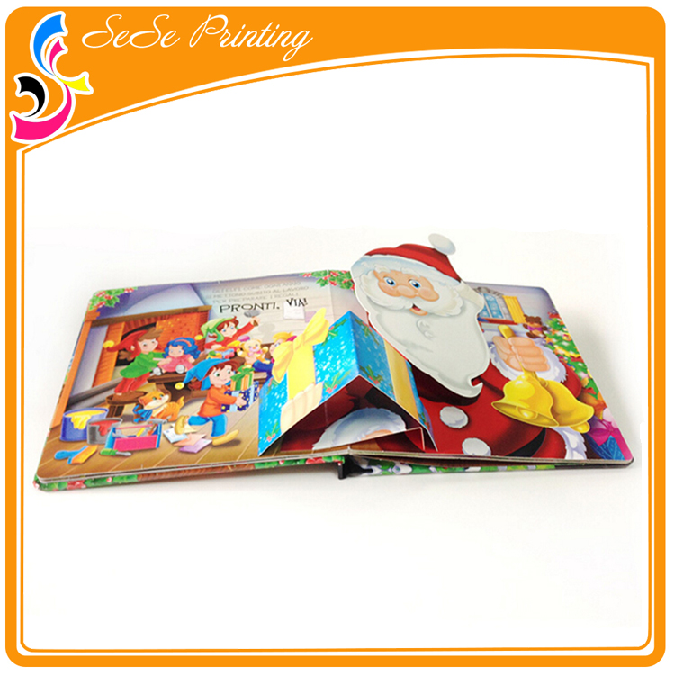 OEM Cartoon Children Pop Up Book custom shaped offset printing book