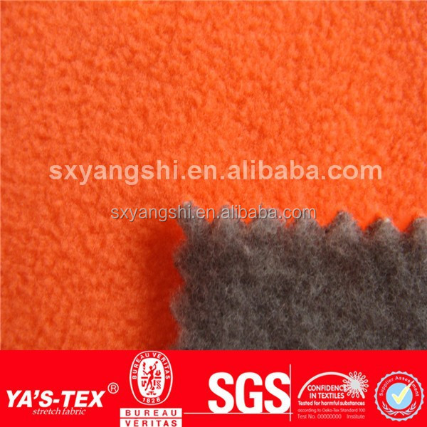 Warm 400gsm Polyester Polar Fleece Fabric Bonded Brashed Fabric for Fleece Jacket, Fleece Coat