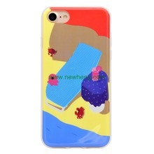 hot selling custom silicone anime cartoon cat cell phone case for iphone 7