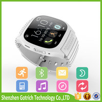 Rechargeable Bluetooth Watch Smart Wristwatch Phone Mate for Smartphones IOS Apple Iphone Android Samsung S2/s3/s4/s5/note 2/not