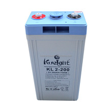 Kweight long life sealed lead acid battery 2V 200AH solar , used in solar system / UPS / inverter / telecom