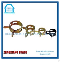 iron plating dacromet spring hose clamp Wing Hose Clips