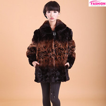 2015 women fashion clothing knitted mink fur coat / Real fur jacket for women / Mink coats from China