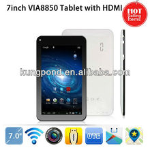 Colorful 7inch Cheap Via8850 Cortex A9 1.5GHZ Android4.1 Tablet PC/MID