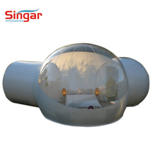 2 tunnel inflatable clear bubble tent,inflatable hotel bubble tent for sale