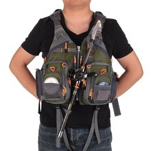 Fishing Hunting Jacket Multi-pockets Fishing Backpack Breathable Fly Fishing Vest