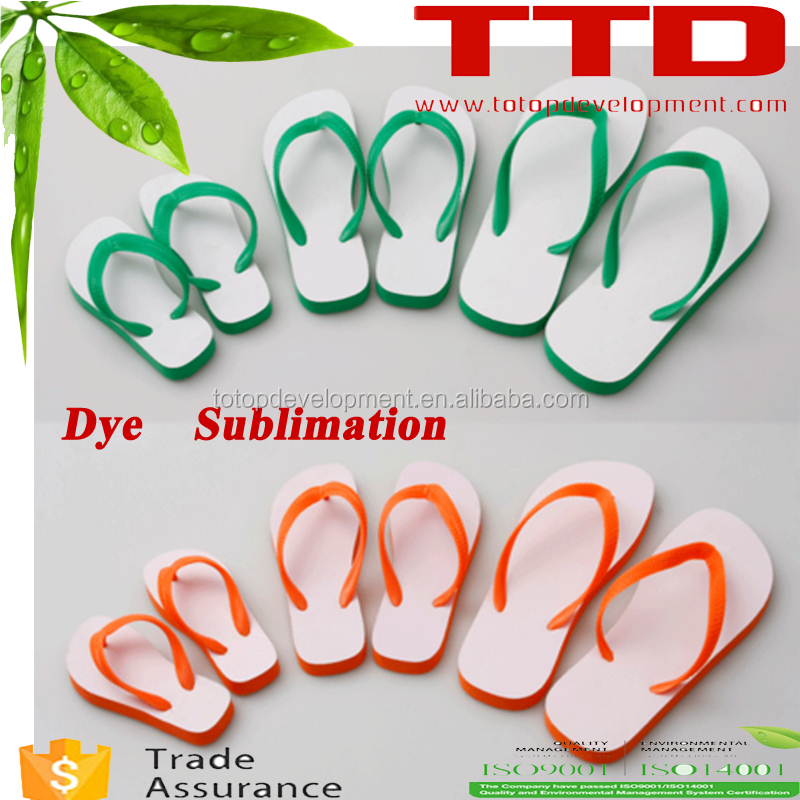for dye subllimate beach flip flop ,kids and adults