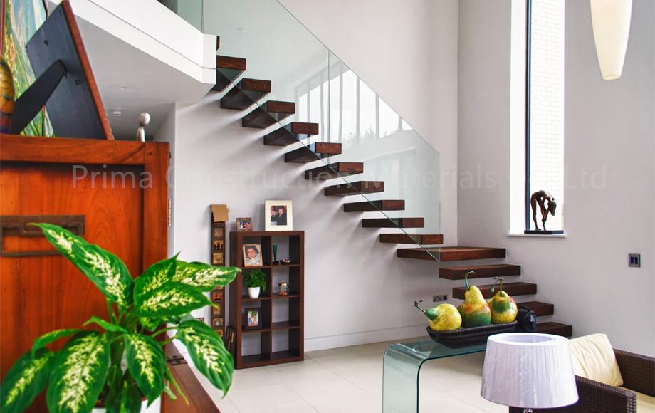 Hidden Single Stringer Staircase Kit Cantilever Stairs   Buy Kit Cantilever  Stairs,Modern Hidden Stringer Staircase,Single Stringer Stair Product On ...