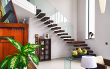 Hidden single stringer staircase kit cantilever stairs