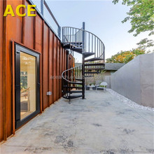 Modern Customize Prefabricated Used Metal Outdoor Stairs with Glass Railing