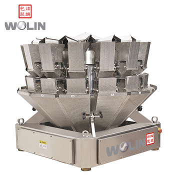 High precision packaging machine with multihead filling doser packing for salad vegetable fruit