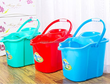 Strong quality plastic mop bucket with wheel