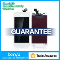 Completed lcd screen and display assembly for iphone 5 color glass