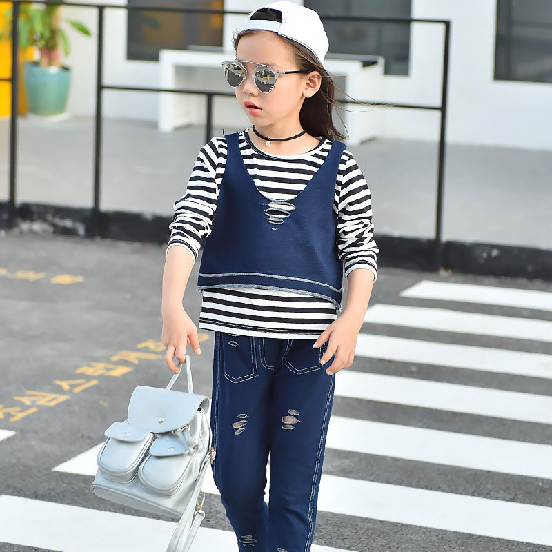 Girls 3pcs Clothing Set Teenagers Girl Autumn Casual Outfit Tracksuit
