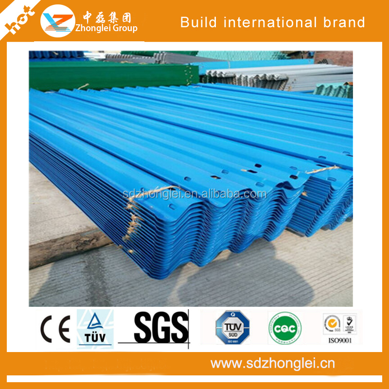 Two Way Metal Galvanized Highway Bridge Guardrail with accerssories Systems