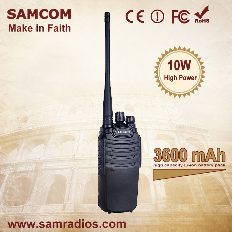 SAMCOM CP-400HP Portable High Quality Water-resistant 3500mAh Lithium-ion 10W Vhf Walkie Talkie Digital Two Way Radio