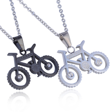 Custom Design Gym Jewelry Stainless Steel Bicycle Bike Sport Pendant