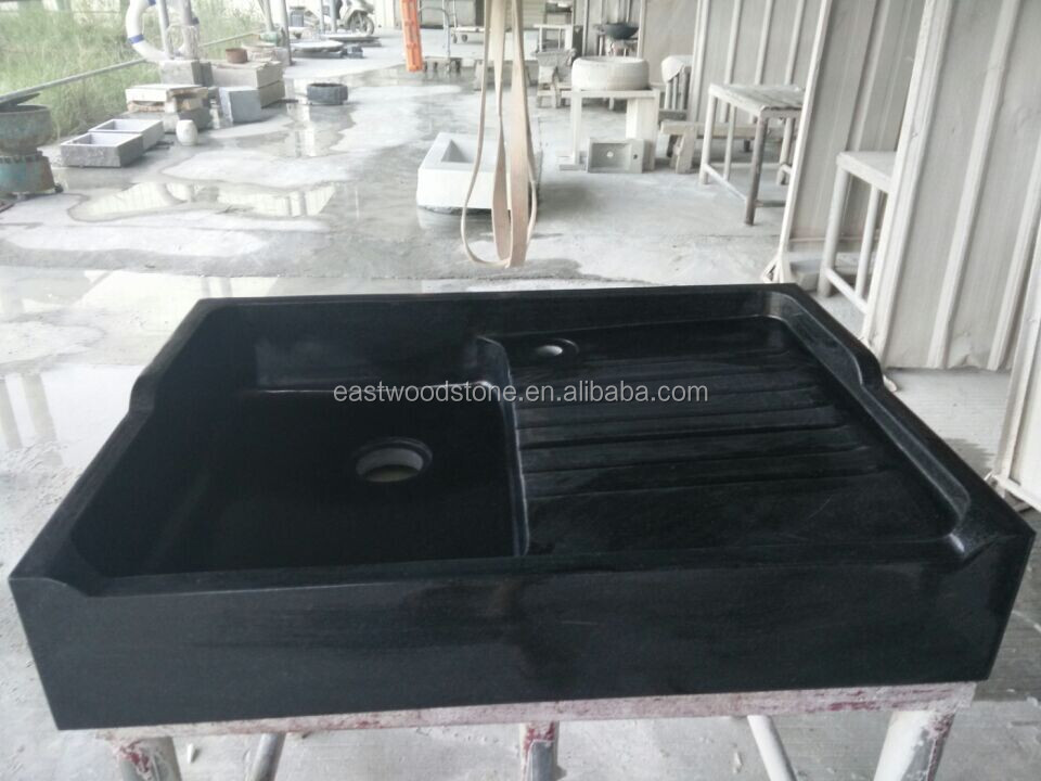 Marble sink basin, bathroom basin, black stone sink