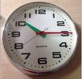 simple round big size metal wall clocks for elderly(HD-2050)