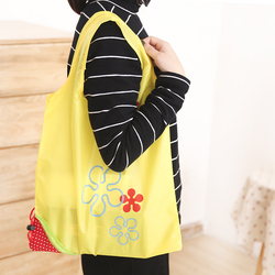 Wholesale reusable foldable Various fruit bag strawberry waterproof Eco bag