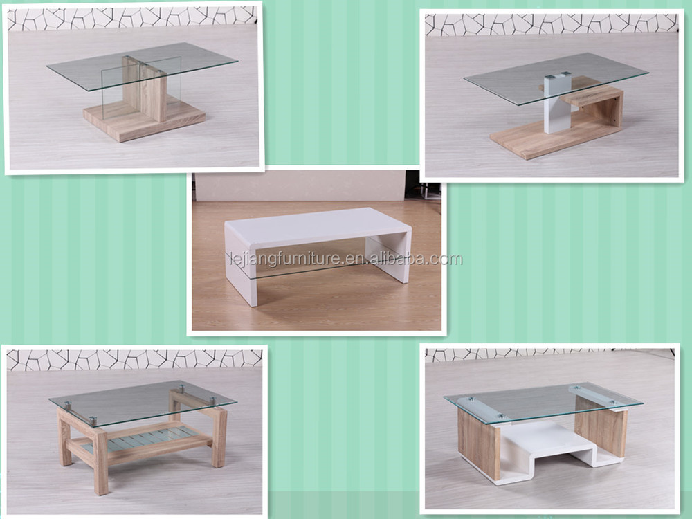 hot new products for 2015 small fancy glass coffee table LCT-08