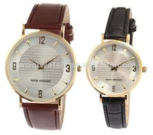 S.S genuine leather strap Japan movt lover watch & Couple watches 2014