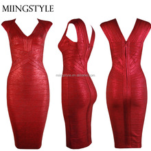 Hot Sales women clothing evening Cocktail dress , bodycon bandage ladies fashion evening dress 2016 women