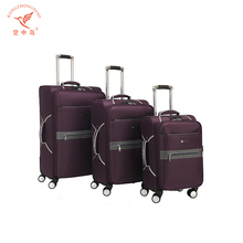 exotic collapsibible purple extra large luggage suitcase