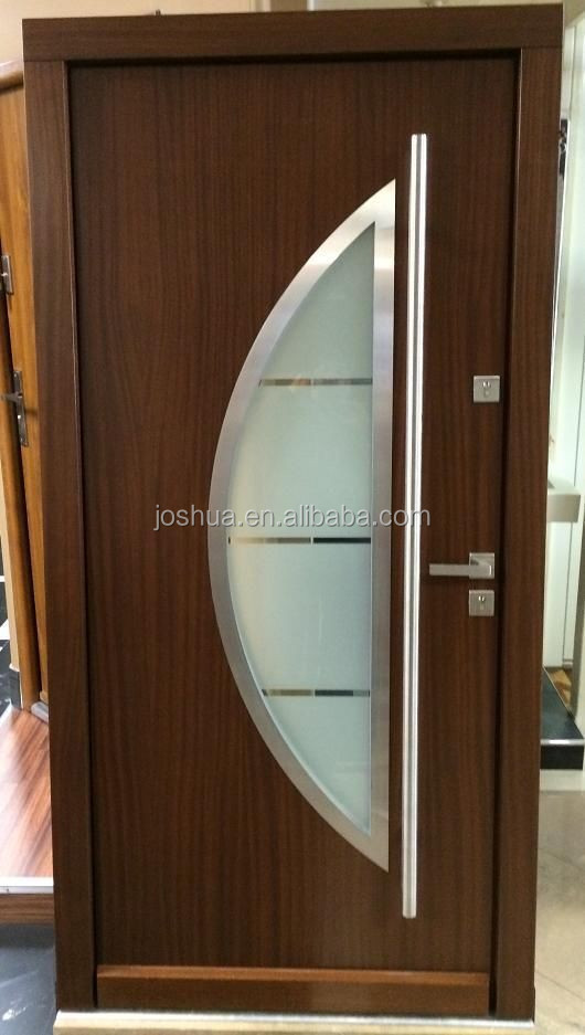 Contemporary Solid modern Meranti exterior Front Entry Door