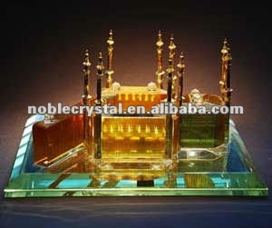 Kaaba Sharif Crystal Building Model Crystal Souvenirs Crystal Gifts With Base