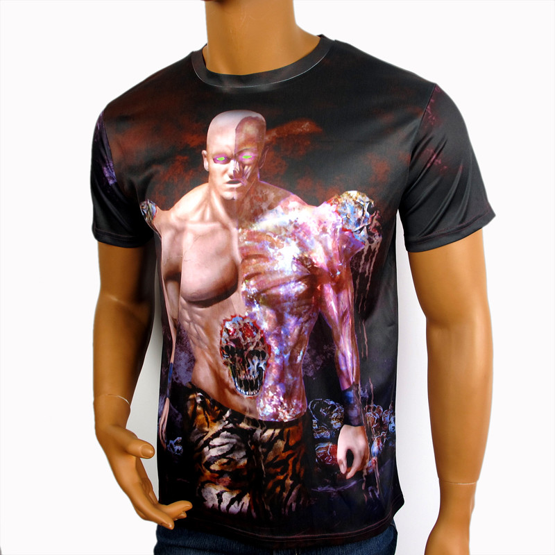 Cheap Microfiber Polyester Dye Sublimation Printing Dry Fit T shirt