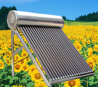 China Manufacturing Non Pressured and Stainless Steel Housing Material Solar Water Heater, Vacuume Tube Solar Collector
