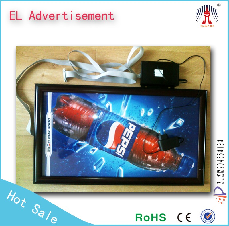 EL flashing poster digital el light box sign electroluminescent el advertising
